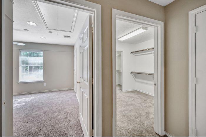 Hallway and Bedrooms
