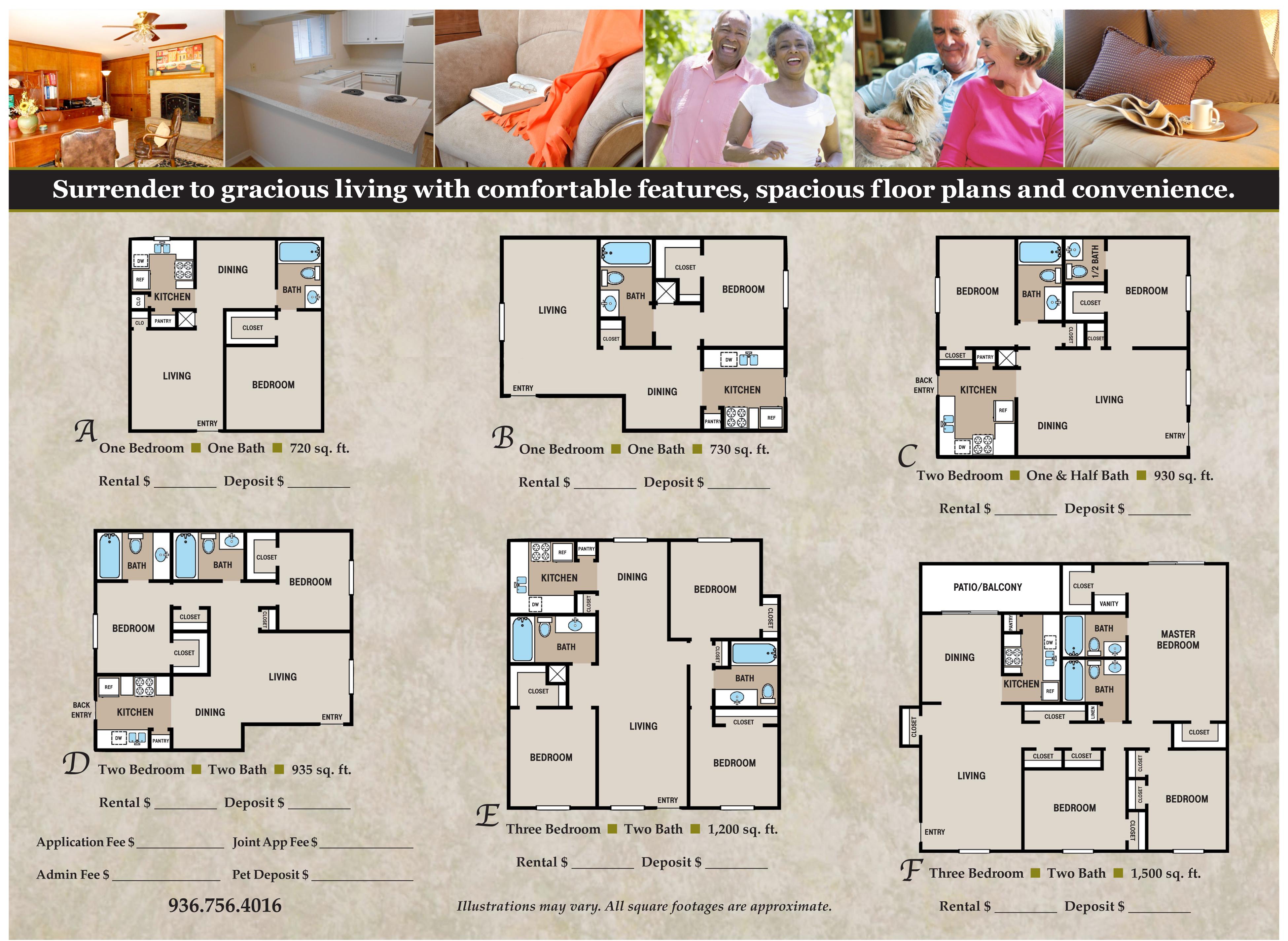Plantation Apartments Floor Plans